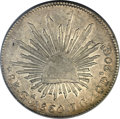 Mexico, Mexico: Republic Caps and Rays 8 Reales 1860 Ga-JG AU Details(Cleaning) PCGS,...