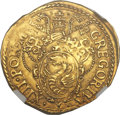 Italy:Papal States, Italy: Papal States. Gregory XIII gold Scudo d'oro ND (1572-85)AU55 NGC,...