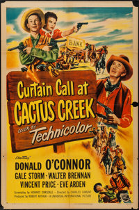 "Curtain Call at Cactus Creek (Universal International, 1950). One Sheet (27"" X 41""). Comedy"