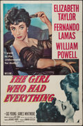 """Movie Posters:Romance, The Girl Who Had Everything (MGM, 1953). One Sheet (27"""" X 41"""").Romance.. ..."""