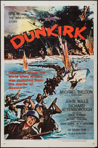 """Dunkirk and Other Lot (MGM, 1958). One Sheets (2) (27"""" X 41""""). War. ... (Total: 2 Item)"""