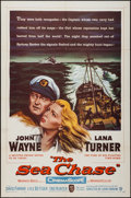 """Movie Posters:War, The Sea Chase (Warner Brothers, 1955). One Sheet (27"""" X 41""""). War.. ..."""