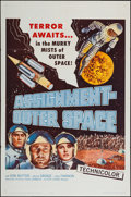 "Movie Posters:Science Fiction, Assignment Outer Space (Four Crown, 1962). One Sheet (27"" X 41"").Science Fiction.. ..."