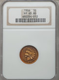 Proof Indian Cents: , 1906 1C PR65 Red NGC. NGC Census: (12/10). PCGS Population (19/15). Mintage: 1,725. Numismedia Wsl. Price for problem free ...
