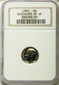Proof Roosevelt Dimes, 1960 10C Doubled Die Obverse , FS-102 PR68 NGC. (FS-015). PCGSPopulation (4/0). Mintage: 1,691,602....