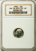 Proof Roosevelt Dimes: , 1963 10C Doubled Die Reverse, FS-802, PR69 NGC. (FS-017.5). ...