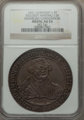 German States:Eisleben, German States: Eisleben. Namburg Convention Anniversary 1-1/2 Show Taler 1661 AU53 NGC,...