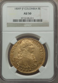 Colombia, Colombia: Ferdinand VII gold 8 Escudos 1809 P-JF AU50 NGC,...