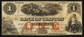 Canadian Currency: , Clifton, PC - The Bank of Clifton $1 Nov. 1, 1859 Ch. #125-10-02-02. ...
