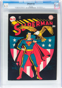 Superman #14 (DC, 1942) CGC VF+ 8.5 White pages