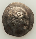 Ancients:Celtic, Ancients: DANUBIAN CELTS. Ca. 2nd century BC. Imitating Philip IIIof Macedon. AR tetradrachm (13.36 gm)....
