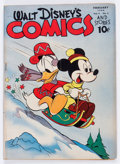 Golden Age (1938-1955):Cartoon Character, Walt Disney's Comics and Stories #41 (Dell, 1944) Condition:GD/VG....