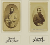 General JEB Stuart and General Fitzhugh Lee Cartes De Visite - The Two Great Confederate Cavalrymen. These two car
