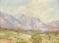Paintings, HAZEL WILSON (1899-1987). Untitled Ocotillo. Oil on artistboard. 9in. x 12in.. Signed lower left. A nice desert scene with...