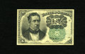 Fractional Currency:Fifth Issue, Fr. 1264 10c Fifth Issue Extremely Fine-About New. A couple ofpinholes are found on this lightly circulated example of the ...