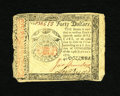 Colonial Notes:Continental Congress Issues, Continental Currency January 14, 1779 $40 Very Fine-ExtremelyFine.The detail of this higher denomination note is really alm...