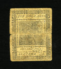 Colonial Notes:Continental Congress Issues, Continental Currency May 9, 1776 $6 Very Fine. A boldly printedVery Fine note with two excellent signatures and three bount...