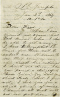 "Autographs:Celebrities, Extremely Rare War-Date John Wilkes Booth Autograph Letter Signed,""J. Wilkes Booth,"" Four pages, 5"" x 8"", St. Joseph, M..."