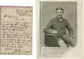 """Autographs:Celebrities, Excessively Rare Boston Corbett Autograph Letter Signed, one page,5.5"""" x 8.25"""", Lincoln Barracks, Washington, D.C., May 11,..."""