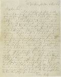 Autographs:Military Figures, Highly Important Robert E. Lee Autograph Letter Signed, Referring to Grant, with Poignant Civil War Content Mostly written o...