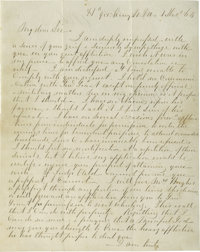 Highly Important Robert E. Lee Autograph Letter Signed, Referring to Grant, with Poignant Civil War Content Mostly writt...