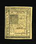 Colonial Notes:Delaware, Delaware January 1, 1776 5s Gem New. A lovely gem example of thismore available Delaware issue that has four behemoth margi...
