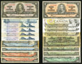 Canadian Currency: , Canada $53 Face.. ... (Total: 17 notes)