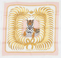 "Luxury Accessories:Accessories, Hermes 70cm Pink & White ""Tigre Royal,"" by Christiane VauzellesSilk Scarf. Pristine Condition. 28"" Width x 28..."