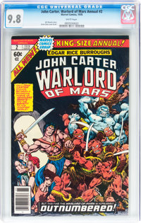 John Carter, Warlord of Mars Annual #2 (Marvel, 1978) CGC NM/MT 9.8 White pages