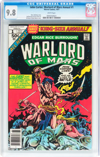 John Carter, Warlord of Mars Annual #1 (Marvel, 1977) CGC NM/MT 9.8 White pages