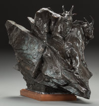 SHERRY SALARI-SANDER (American, b. 1941) Great Northen, 1985 Bronze with brown patina 23 inches (