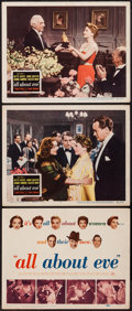 "Movie Posters:Academy Award Winners, All About Eve (20th Century Fox, 1950). Title Lobby Card (11"" X14"") and Lobby Cards (2) (11"" X 14""). Academy Award Winners....(Total: 3 Items)"