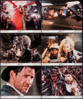 "Movie Posters:Adventure, Indiana Jones and the Temple of Doom (Paramount, 1984). Lobby Cards(6) (11"" X 14""). Adventure.. ... (Total: 6 Items)"