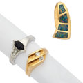 Estate Jewelry:Lots, Multi-Stone, Diamond, Gold Jewelry. ... (Total: 3 Items)