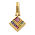 Estate Jewelry:Pendants and Lockets, Sapphire, Gold Pendant. ...