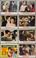 """Movie Posters:Musical, Rhapsody (MGM, 1954). Lobby Card Set of 8 (11"""" X 14""""). Musical.. ... (Total: 8 Items)"""
