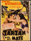 "Movie Posters:Adventure, Tarzan and His Mate (MGM, 1934). Trimmed Midget Window Card (8"" X11""). Adventure.. ..."
