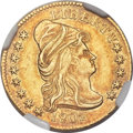 Early Quarter Eagles, 1802/1 $2 1/2 BD-3, R.5, MS61 NGC....