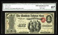 National Bank Notes:Missouri, California, MO - $1 Original Fr. 382 The Moniteau NB Ch. # 1712. Anexceptionally well centered example of this popular ...