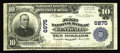 National Bank Notes:Missouri, Centralia, MO - $10 1902 Plain Back Fr. 624 The First NB Ch. #6875. A nice large size example from one of the most avid...