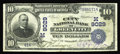 National Bank Notes:Missouri, Green City, MO - $10 1902 Date Back Fr. 618 The City NB Ch. #(M)9029. An exceptionally rare note from by far the scarce...