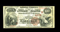 National Bank Notes:Missouri, Saint Louis, MO - $10 1882 Brown Back Fr. 484 The NB of CommerceCh. # (M)4178. Strong margins and vivid color highlight...