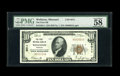 National Bank Notes:Missouri, Wellston, MO - $10 1929 Ty. 1 The First NB Ch. # 8011. Thirty-onesmall size notes are known off this Saint Louis County...