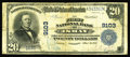 National Bank Notes:Montana, Ismay, MT - $20 1902 Plain Back Fr. 652 The First NB Ch. # 9103. A great rarity which is one of just two large notes kno...