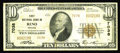 National Bank Notes:Nevada, Reno, NV - $10 1929 Ty. 2 First NB Ch. # 7038. A problem free Type 2 example from a state where material, even from Reno...