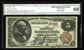 National Bank Notes:New York, New York, NY - $5 1882 Brown Back Fr. 469 The Western NB Ch. # 3700. This comes from one of New York City's scarcer bank...