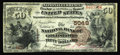 National Bank Notes:North Carolina, Goldsboro, NC - $50 1882 Brown Back Fr. 515 The NB of Goldsboro Ch. # 5048. This note is a true miracle of survival, as ...