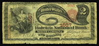 Raleigh, NC - $2 1875 Fr. 391 The Raleigh NB of North Carolina Ch. # 1557 While this piece is certainly well circulated...