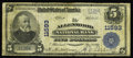 National Bank Notes:Pennsylvania, Allenwood, PA - $5 1902 Plain Back Fr. 607 The Allenwood NB Ch. #11593. This $10 has passed through two auctions before...