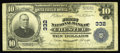 National Bank Notes:Pennsylvania, Chester, PA - $10 1902 Plain Back Fr. 624 The First NB Ch. # 332.James C. Baker and Frank A. Howard managed this bank l...